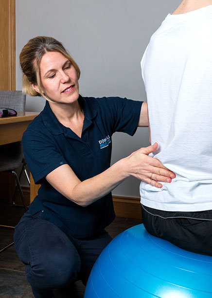 Domaille neurophysio Bristol & South West  Neurophysiotherapists helping a client